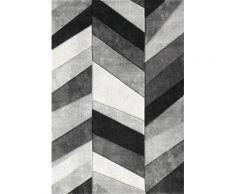 Teppich, Merinos, »BELIS PARKETT«, gewebt, handgearbeiteter Konturenschnitt, grau, grau