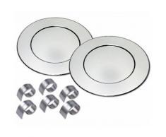 CHG Platzteller-Set incl. 6 Serviettenringe, silberfarben, Unisex, silberfarben
