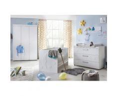 Komplettzimmer »Basel« Babybett + Wickelkommode + Kleiderschrank, (3-tlg.), in weiß matt, weiß, matt weiß
