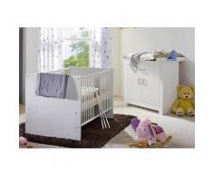 Spar-Set »Kopenhagen«, Babybett + Wickelkommode in weiß matt, weiß, weiß matt
