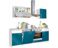 Küchenzeile »Ahus«, Breite 220 cm, blau, Ozeanblau