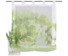 Raffrollo, Home Wohnideen, »LEAVES«, mit Schlaufen, grün, grün