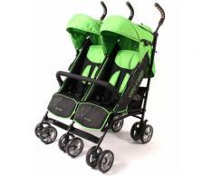 CHIC4BABY Buggy mit feststellbaren Vorderrädern, »Zwillingsbuggy green stars«, grün, Kinder, green stars