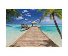 Fototapete, Komar, »Beach Resort«, 368/254 cm, blau, blau/braun