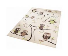 Kinder-Teppich, Zala Living, »Eulen«, Höhe 9 mm, gewebt, grün, grün