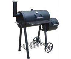 EL FUEGO Smoker Holzkohlegrill, »Edmondton«, schwarz, Unisex, schwarz
