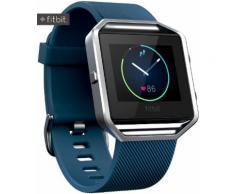 FitBit Blaze Fitness Tracker in blau/silber, Größe: S