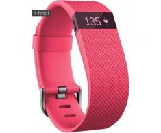 FitBit Charge HR Fitness Tracker in rosa, Größe: L
