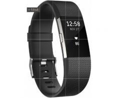 FitBit Charge 2 Fitness Tracker in schwarz, Größe: L