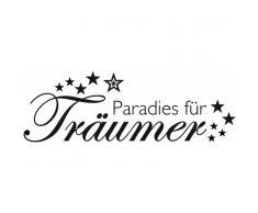 Home Affaire Wandspruch »Paradies für Träumer «, schwarz