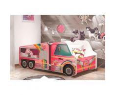 Relita Kinderbett, 70/140 cm, rosa, inkl. Lattenrost und Matratze