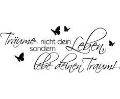 Home Affaire Wandspruch »Träume nicht Dein Leben?.«, schwarz