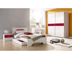 Rauch rauch Jugendzimmer-Sparset mit Schwebetürenschrank (4-tlg.), rot