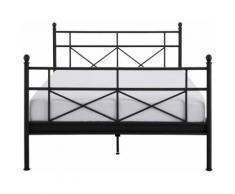 Home Affaire Metallbett »Thora«, 90/200 cm, schwarz