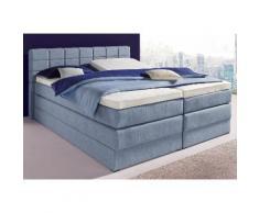 Hapo Boxspringbett, inkl. geräumigem Bettkasten, blau, 200/200 cm