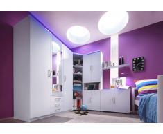 Schlafwelt Jugendzimmer (5-tlg.), weiß, 3-türig