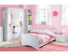 Rauch Jugendzimmer-Set (3-tlg.), mit 3-türigem Schrank, weiß