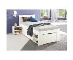 Home Affaire Stauraum-Bett »Hansa«, Liegehöhe ca. 50 cm, Liegefläche 90/200 cm, weiß, mit Rollrost