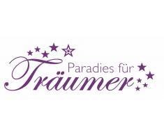 Wandspruch »Paradies für Träumer «, lila