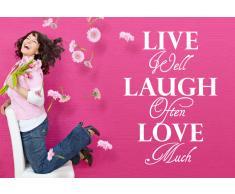 Home Affaire Wandspruch »Live well laugh often?.«, weiß