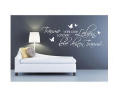 Home Affaire Wandspruch »Träume nicht Dein Leben?.«, weiß
