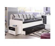 Schlafwelt Bett, B/L/H ca. 96/205/60 cm, mit ausziehbaren Schubkasten, weiß