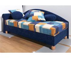 Polsterliege, blau, Seitenteil links, mit 5-Zonen-Komfortpolsterung