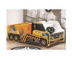 Relita Kinderbett, 70/140 cm, gelb, inkl. Lattenrost und Matratze