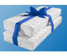 Breckle Taschenfederkernmatratze »Frottee 500«, 2x 80x200 cm, Bezug abnehmbar und waschbar, 101-120 kg