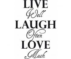 Home Affaire Wandspruch »Live well laugh often?.«, schwarz
