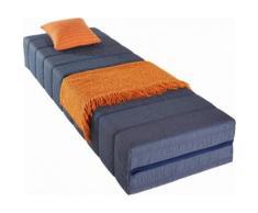 Breckle Gästebett, 140x200 cm, von 65/200 cm auf 140/200 cm klappbar, blau