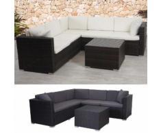 Poly-Rattan Sofa-Garnitur ROM Basic, Sitzgruppe Lounge-Set ~ Variantenangebot