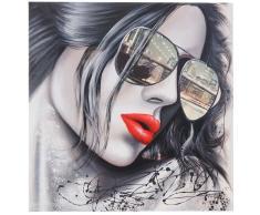 Ölgemälde Sonnenbrille, 100% handgemaltes Wandbild Gemälde XL, 80x80cm ~ Variantenangebot