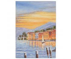 Ölgemälde Küste, 100% handgemaltes Wandbild Gemälde XL, 70x50cm ~ Variantenangebot