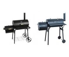 Barbecue-Smoker Grill Standgrill Räucherofen, schwarz ~ Variantenangebot