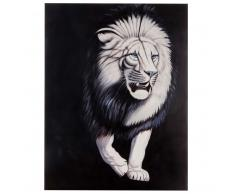 Ölgemälde Weißer Löwe, 100% handgemaltes Wandbild Gemälde XL, 120x90cm ~ Variantenangebot
