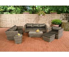 Poly-Rattan Gartengarnitur Sousse, Sofa-Garnitur Lounge-Set ~ Variantenangebot