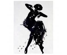 Ölgemälde Tänzerin, 100% handgemaltes Wandbild Gemälde XL, 120x90cm ~ Variantenangebot