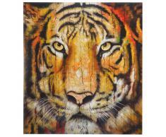 Ölgemälde Tiger, 100% handgemaltes Wandbild Gemälde XL, 100x90cm ~ Variantenangebot