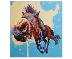 Ölgemälde Pferd, 100% handgemaltes Wandbild 3D-Bild Gemälde XL, 100x90cm ~ Variantenangebot
