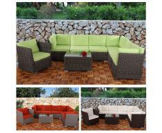6-1 Sofa-Garnitur Siena Poly-Rattan, modulare Gastronomie-Qualität ~ Variantenangebot