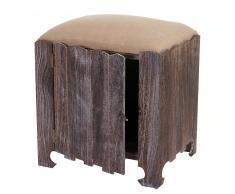Sitzhocker Navan, Hocker Sitzwürfel, Shabby-Look Vintage mit Staufach 58x51x41cm braun ~ Variantenangebot