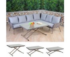 Luxus Poly-Rattan-Garnitur Bilbao, Premium Lounge-Esstisch-Set Gartengarnitur, Alu-Gestell ~ Variantenangebot