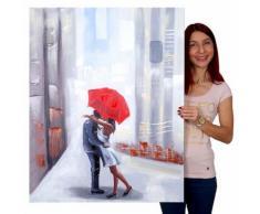 Ölgemälde Paar, 100% handgemaltes Wandbild Gemälde XL, 100x80cm ~ Variantenangebot