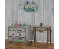 Telefontisch Carolina, Beistelltisch Kosmetiktisch, Shabby-Look Vintage, 80x80x38cm ~ Variantenangebot