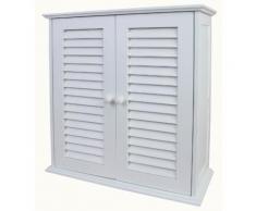 Schrank Hängeschrank Badschrank Badezimmerschrank, weiß, 55x52x22cm