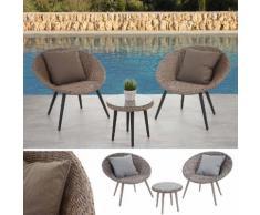 Luxus Poly-Rattan-Garnitur Madrid, Premium Lounge-Set Gartengarnitur, Alu-Gestell ~ Variantenangebot