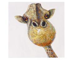 Ölgemälde Giraffe, 100% handgemaltes Wandbild Gemälde XL, 90x90cm ~ Variantenangebot