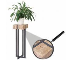 Blumentisch HWC-A15, Beistelltisch Tisch Blumensäule, Tanne Holz rustikal massiv 100x32x32cm ~ Variantenangebot