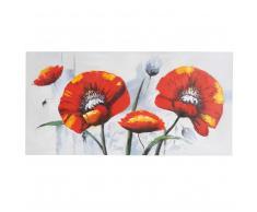 Ölgemälde Roter Mohn, 100% handgemaltes Wandbild Gemälde XL, 140x70cm ~ Variantenangebot